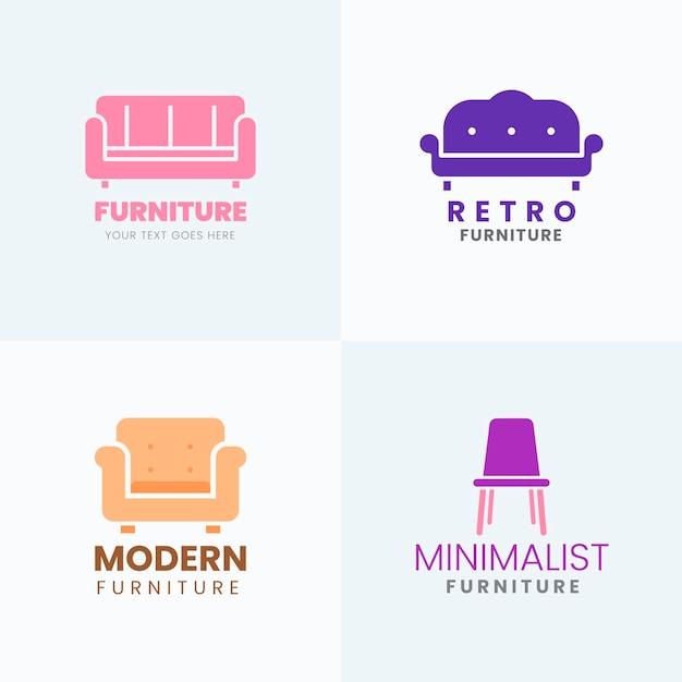Collection De Logo De Meubles Vecteur gratuit
