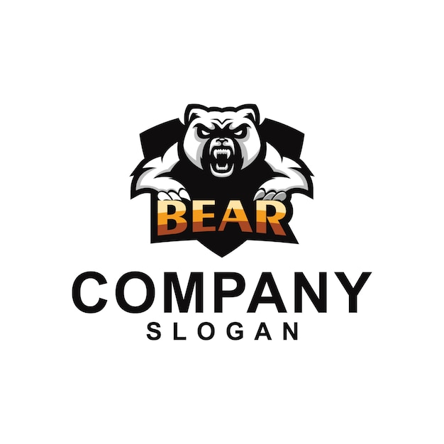 Collection de logo d'ours Vecteur Premium
