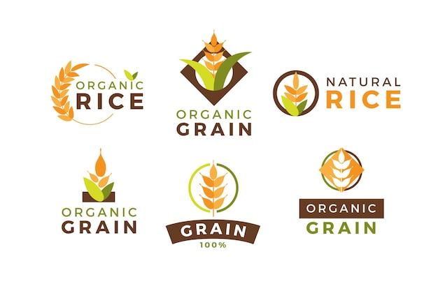 Collection De Logo De Riz Vecteur gratuit