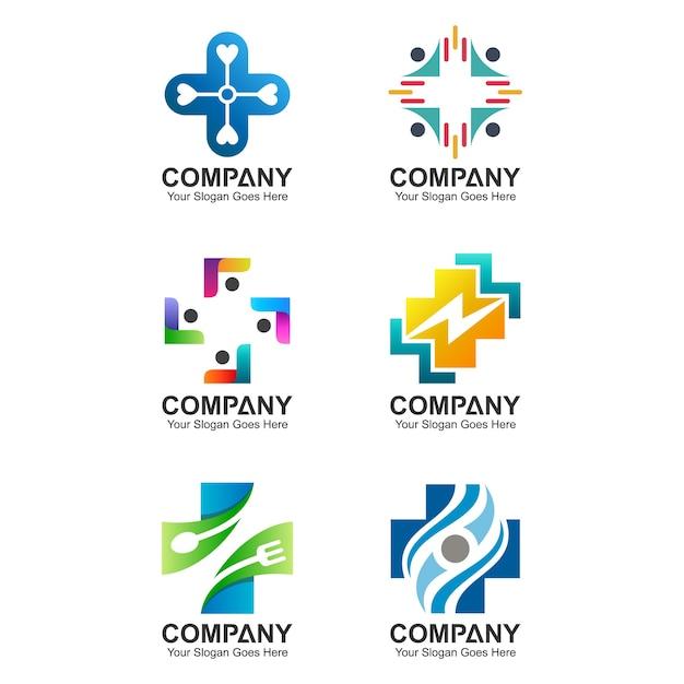 Collection de logo santé Vecteur Premium