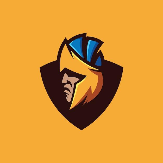 Collection de logo spartan Vecteur Premium