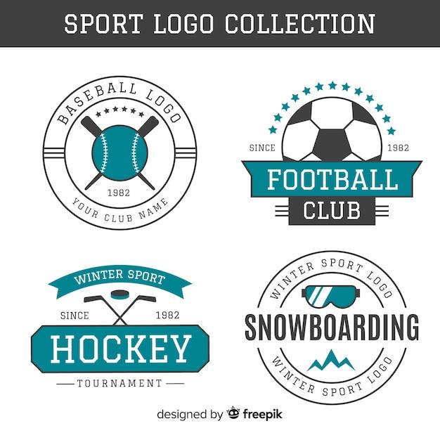 Collection de logo de sport Vecteur gratuit