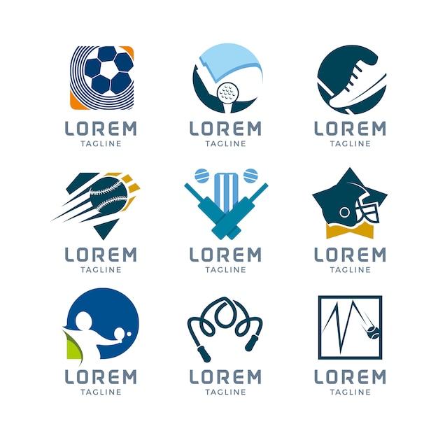 Collection de logo sportif Vecteur gratuit