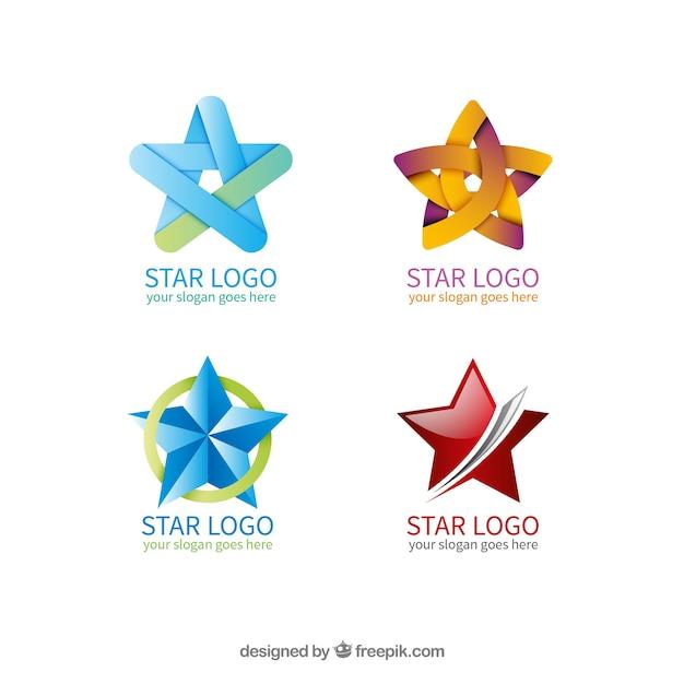 Collection de logo star Vecteur gratuit