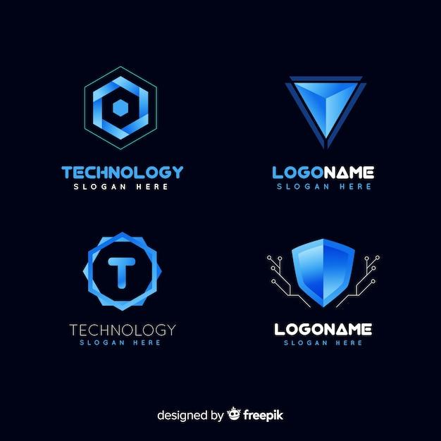 Collection de logo de technologie Vecteur gratuit