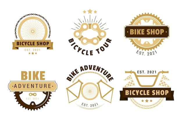 Collection De Logo De Vélo Vintage Vecteur gratuit