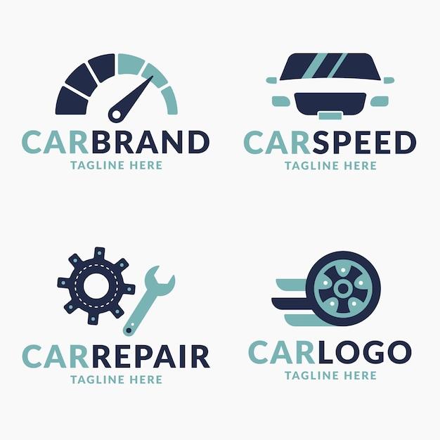 Collection De Logo De Voiture Design Plat Vecteur gratuit