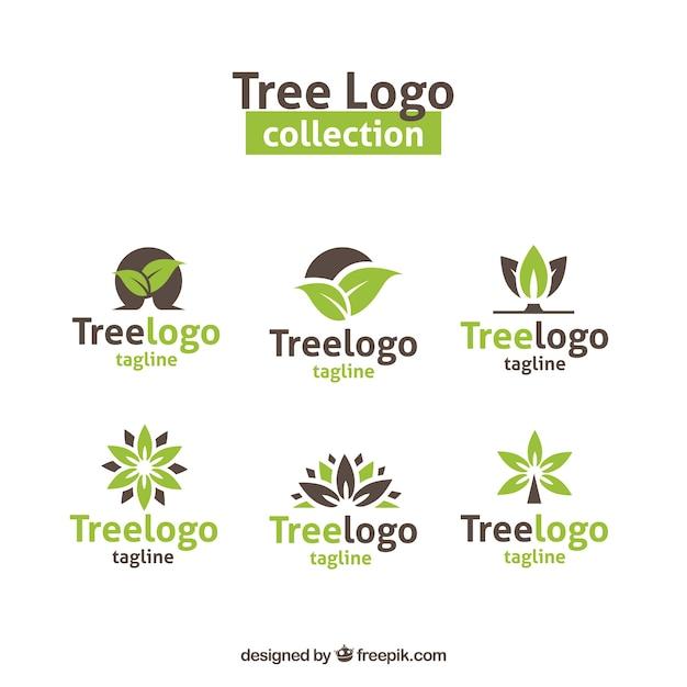 Collection De Logos D'arbres Modernes Vecteur gratuit