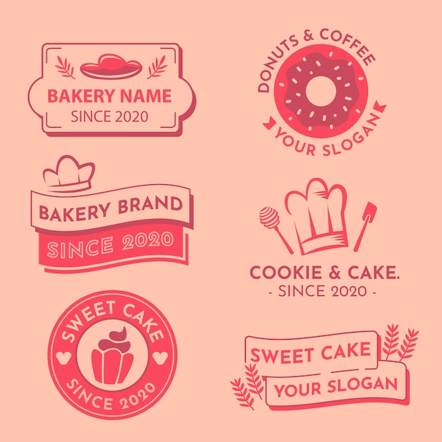 Collection De Logos Au Design Minimal En Deux Couleurs Vecteur gratuit