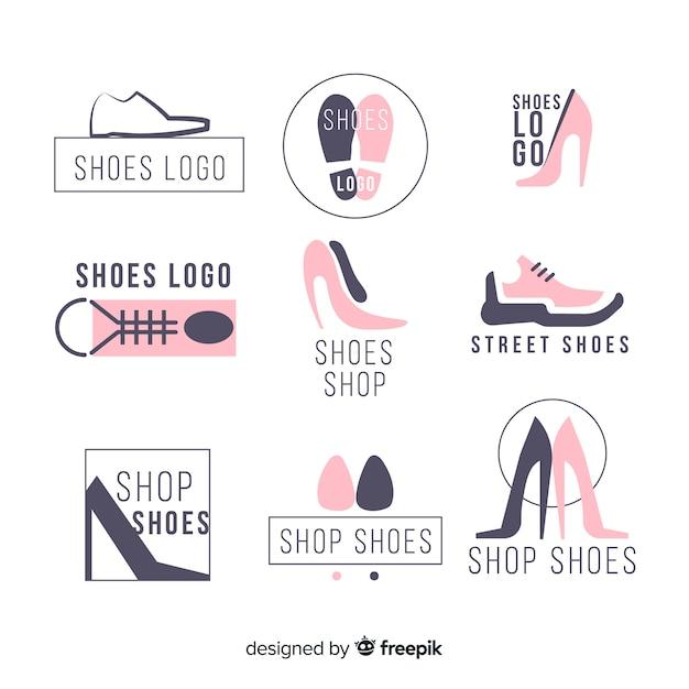 Collection de logos de chaussures de mode Vecteur gratuit
