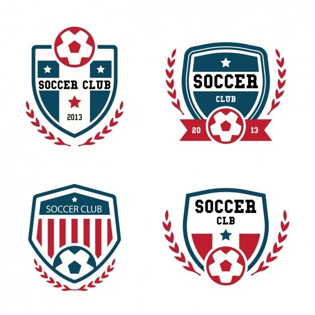 Collection De Logos De Football Vecteur gratuit