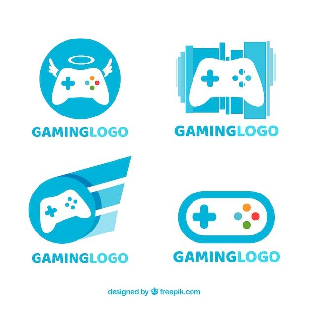 Collection de logos de jeu Vecteur gratuit