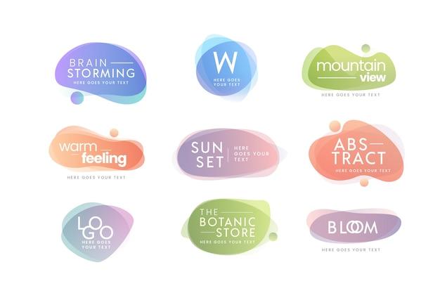 Collection De Logos Minimale Avec Des Couleurs Pastel Vecteur gratuit