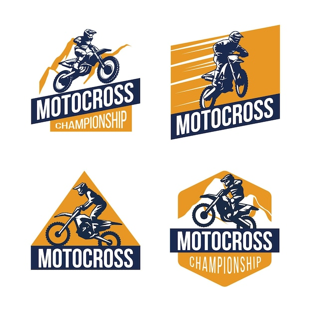 Collection De Logos De Motocross Vecteur gratuit