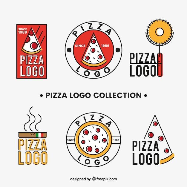 Collection De Logos De Pizza Vecteur Premium