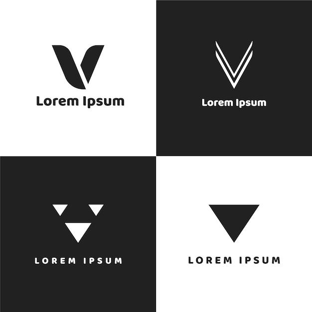 Collection De Logos V Vecteur Premium