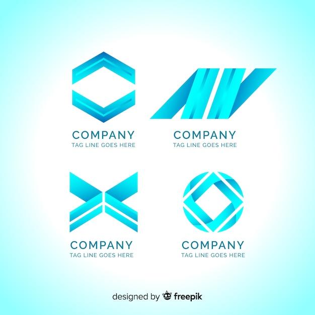 Collection de logotype Vecteur gratuit