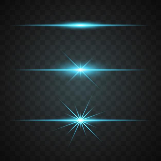 Collection de lumières bleues Vecteur gratuit