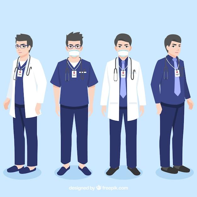 Collection De Médecins Professionnels Vecteur gratuit