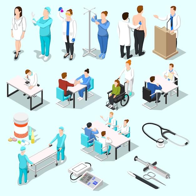 À la collection de médecins Vecteur gratuit