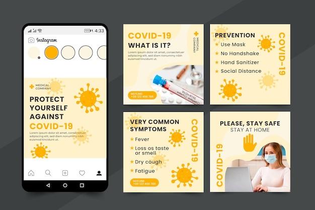 Collection De Messages Sur Le Coronavirus Ig Vecteur gratuit