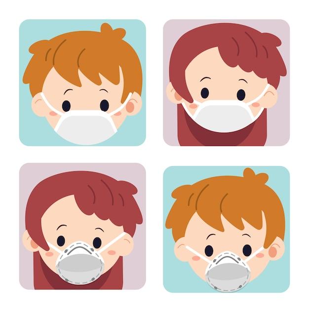 masque chirurgical mignon
