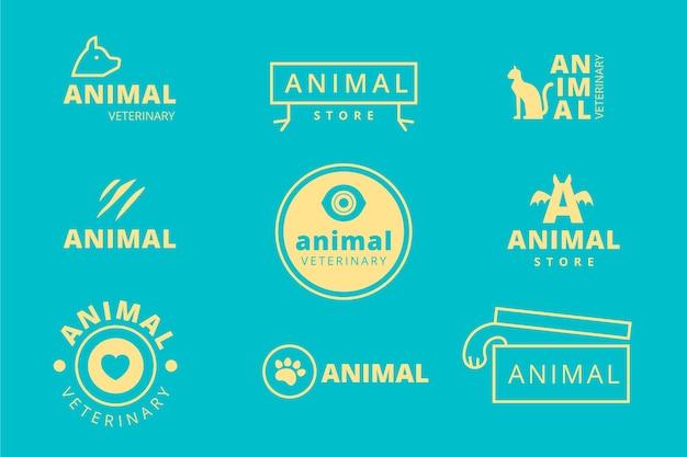 Collection minimale de logos en deux couleurs Vecteur gratuit