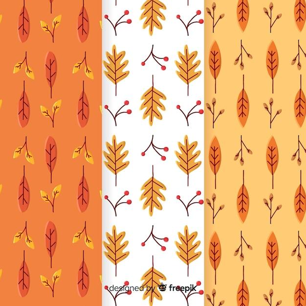 Collection de modèle automne dessiné à la main Vecteur gratuit