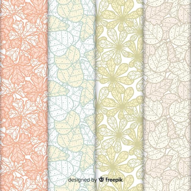 Collection de modèles automne design plat Vecteur gratuit