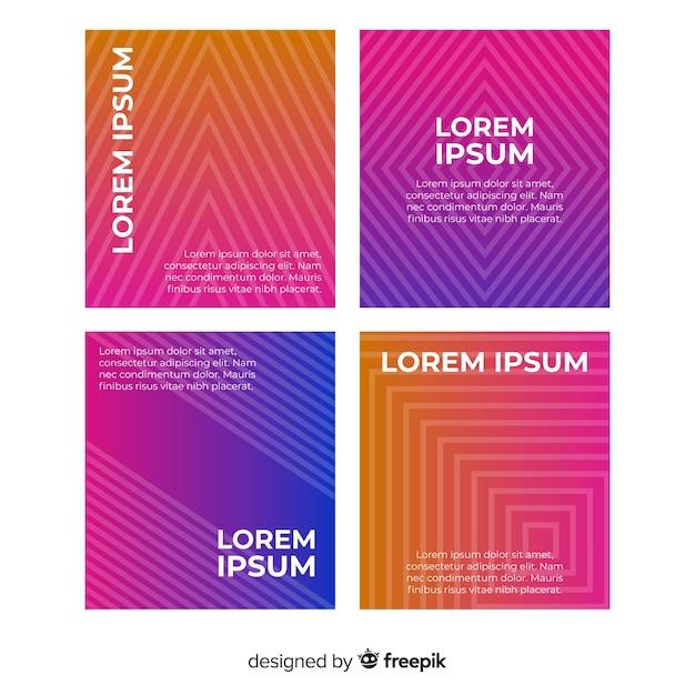 Collection De Modèles De Brochure De Lignes Géométriques Dégradés Vecteur gratuit