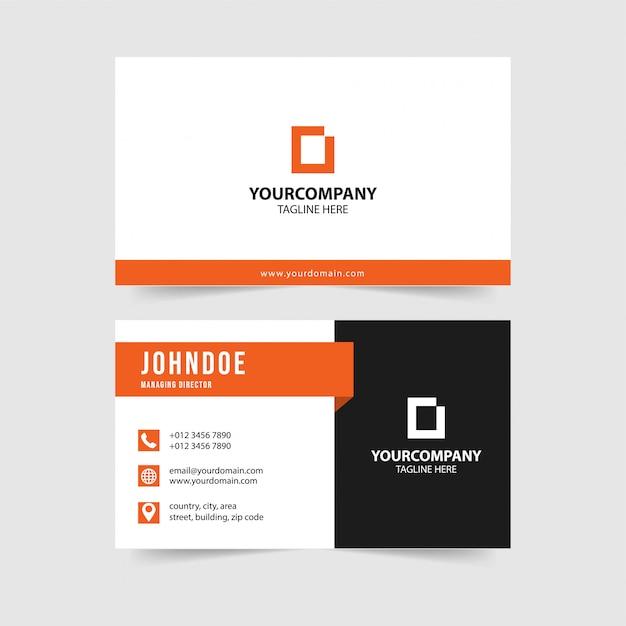 Collection de modèles de cartes de visite modernes Vecteur Premium