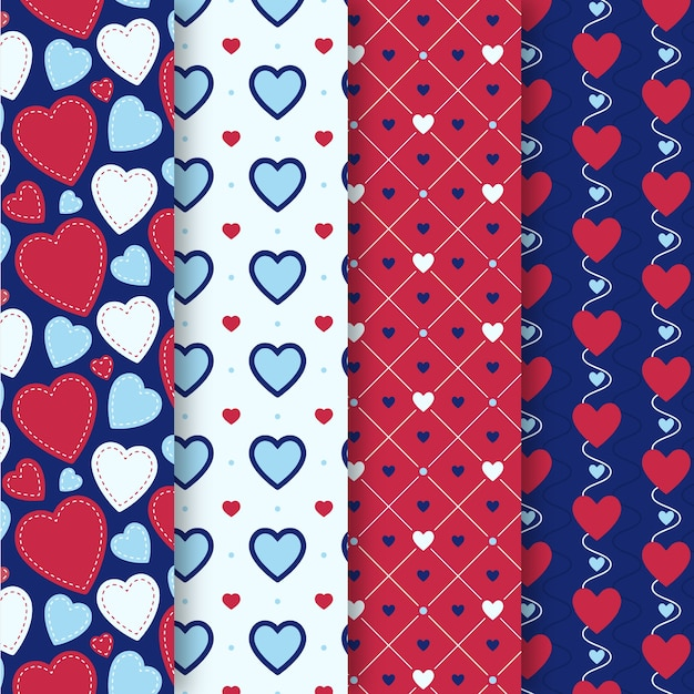 Collection De Modèles De Design Plat Valentines Day Vecteur gratuit