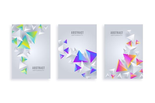 Collection de modèles de flyer abstraite Vecteur gratuit