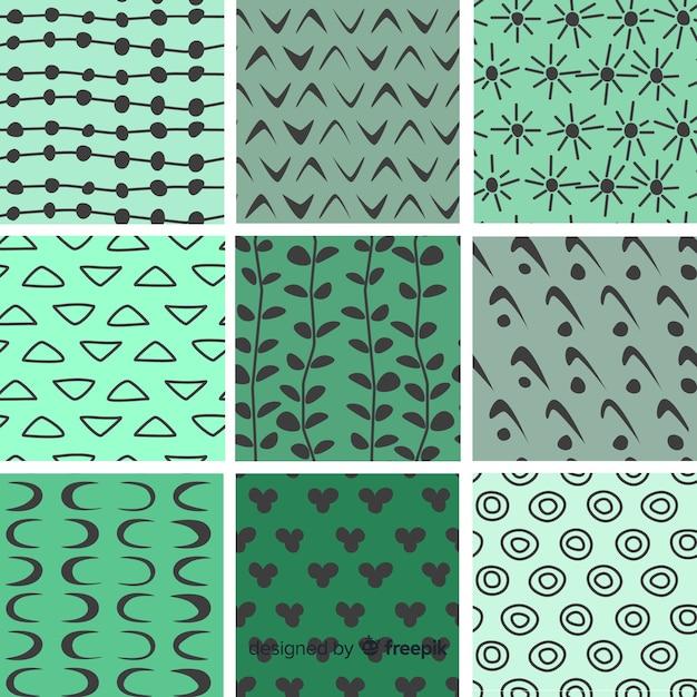 Collection de modèles de forme abstraite dessinés à la main Vecteur gratuit