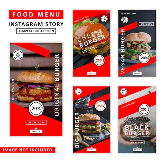 Collection De Modèles D'histoire Instagram Vecteur Premium