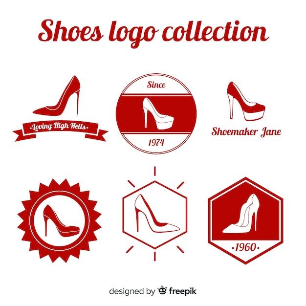 Collection de modèles de logo de chaussures modernes Vecteur gratuit