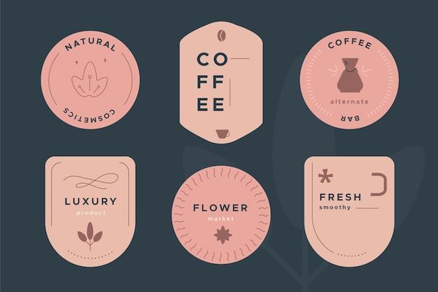 Collection de modèles de logo dans un style rétro Vecteur gratuit