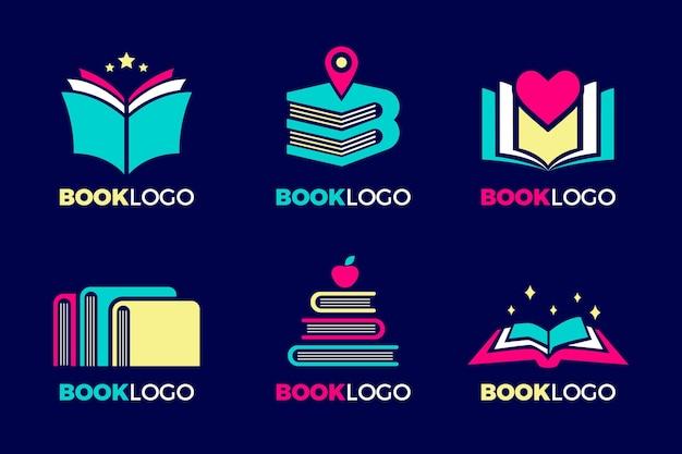 Collection De Modèles De Logo De Livre Créatif Vecteur gratuit