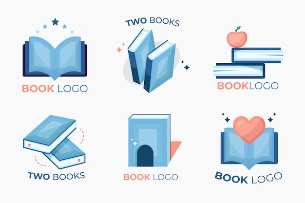 Collection De Modèles De Logo De Livre Vecteur gratuit