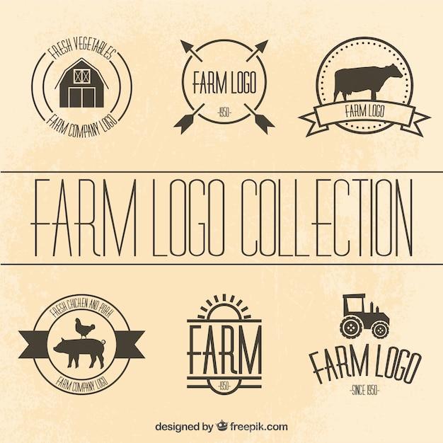 Collection De Modèles De Logotype Agricole Vecteur gratuit