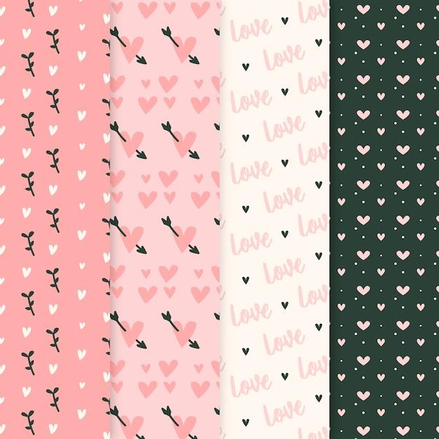 Collection De Modèles De La Saint-valentin Au Design Plat Vecteur gratuit