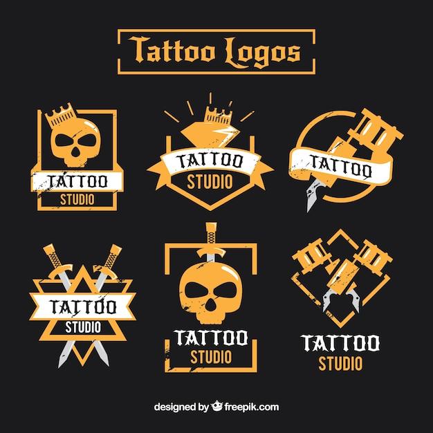 Collection moderne de logo de tatouage Vecteur gratuit