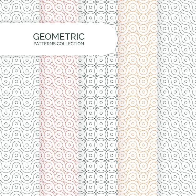 Collection de motifs d'arrière-plans géométriques modernes Vecteur Premium