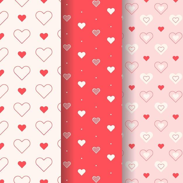 Collection De Motifs De Coeur Au Design Plat Vecteur gratuit
