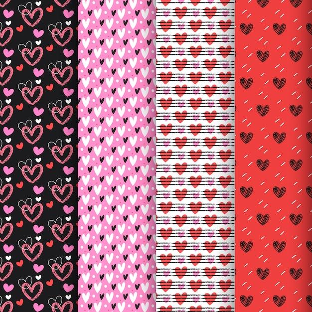 Collection De Motifs Colorés De La Saint-valentin Au Design Plat Vecteur gratuit