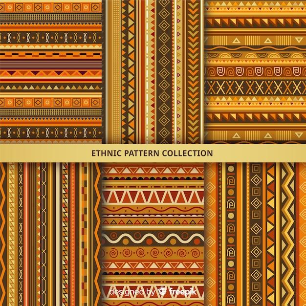 Collection de motifs ethniques Vecteur gratuit
