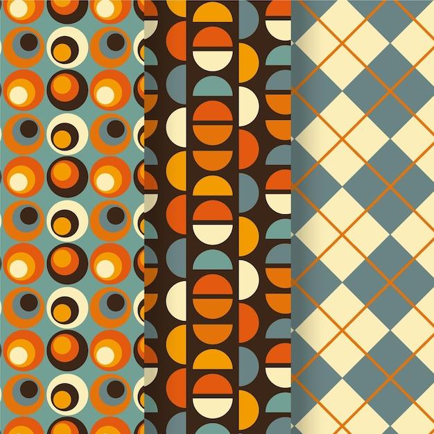 Collection De Motifs Géométriques Colorés Vecteur gratuit