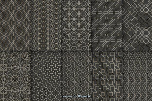 Collection De Motifs Géométriques De Luxe Vecteur Premium
