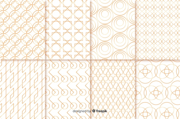 Collection de motifs géométriques de luxe Vecteur gratuit
