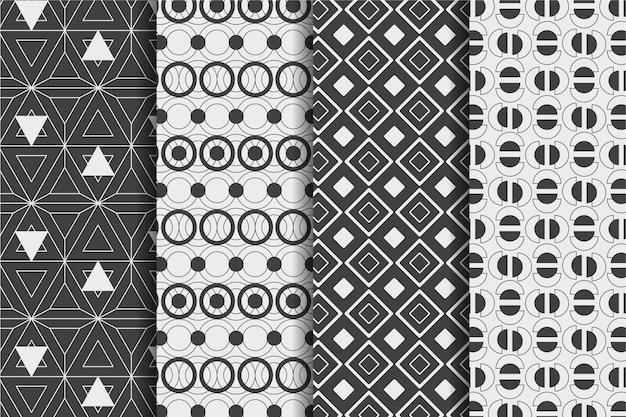 Collection De Motifs Géométriques Minimes Vecteur Premium